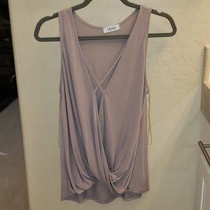 Pale purple sexy shirt NWOT size small